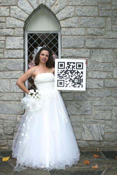 Quick Response (QR) Scan Code Meets Bridal Photo Shoot with Model Sandi (Photographer Dan Smigrod)