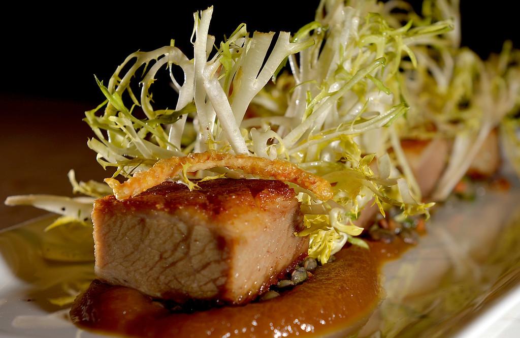 . Pork Belly at Chianina Steak in Long Beach, CA. December 18, 2013. The new restaurant will open on December 27th. (Thomas R. Cordova/Press-Telegram/Daily Breeze)