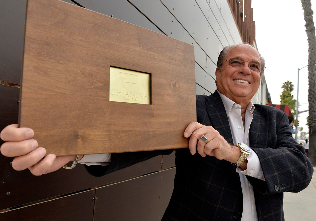 . Michael Dene, Owner, stands out front of his newest restaurant Chianina Steak in Long Beach, CA. December 18, 2013. The new restaurant will open on December 27th. (Thomas R. Cordova/Press-Telegram/Daily Breeze)