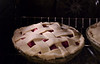 Pie from scratch, strawberry rhubarb