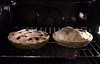 Pie from scratch, both pies in the oven