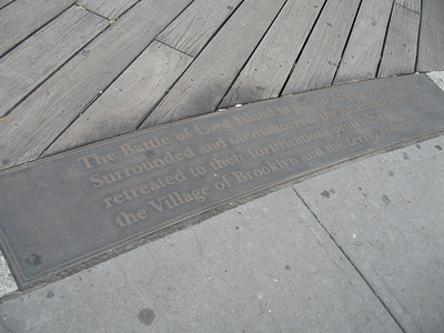 commemorates the Battle of Brooklyn (aka Battle of Long Island)