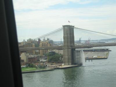 notice one of the Waterfalls under the bridge