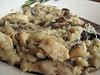 Risotto funghi - mushroom, cheese and rosemary