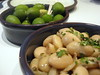 Butter beans with cumin seeds, green Sicilian olives