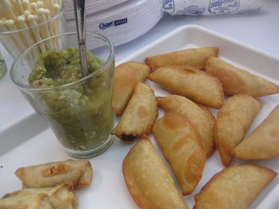 Empanadas with Roasted Salsa Verde