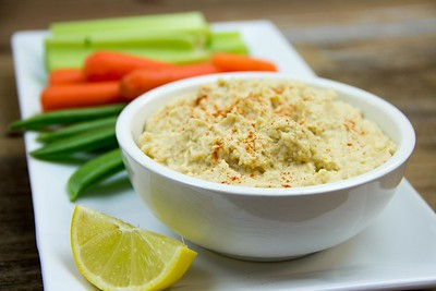 Hummus with Meyer Lemon