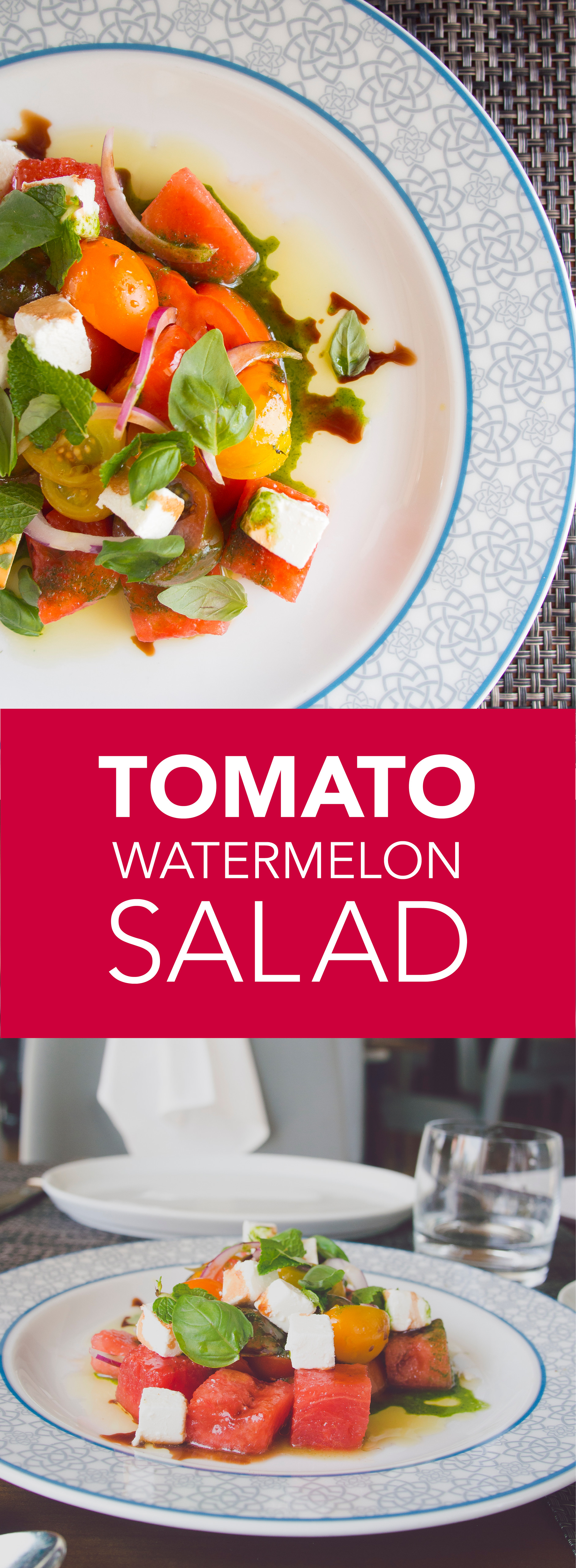This heirloom tomato and watermelon salad is the perfect taste of summer and so easy to make.