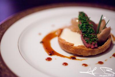 Pigeon with foie gras.