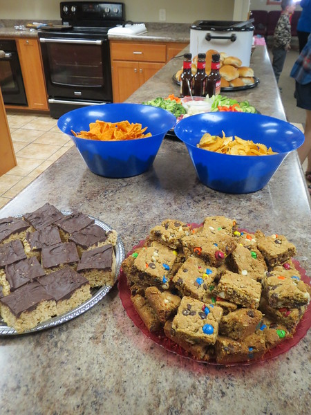 "Pork sandwhiches, chips, bars (rice krispy and m&m's ) at Morris Community Church after a special Saturday morning session-gathering..<br /> <br /> <a href=""https://salphotobiz.smugmug.com/Religion/Churches-Across-the-World/i-Lt3wRRb"">https://salphotobiz.smugmug.com/Religion/Churches-Across-the-World/i-Lt3wRRb</a>"