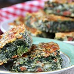 Pepperoni Pizza Spinach Squares Recipe