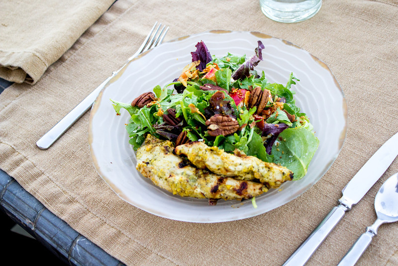 Peggy's Kitchen Summeripe Recipes Grilled Nectarine Chicken Salad
