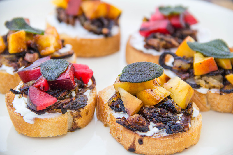 Grilled Fruit Bruschetta
