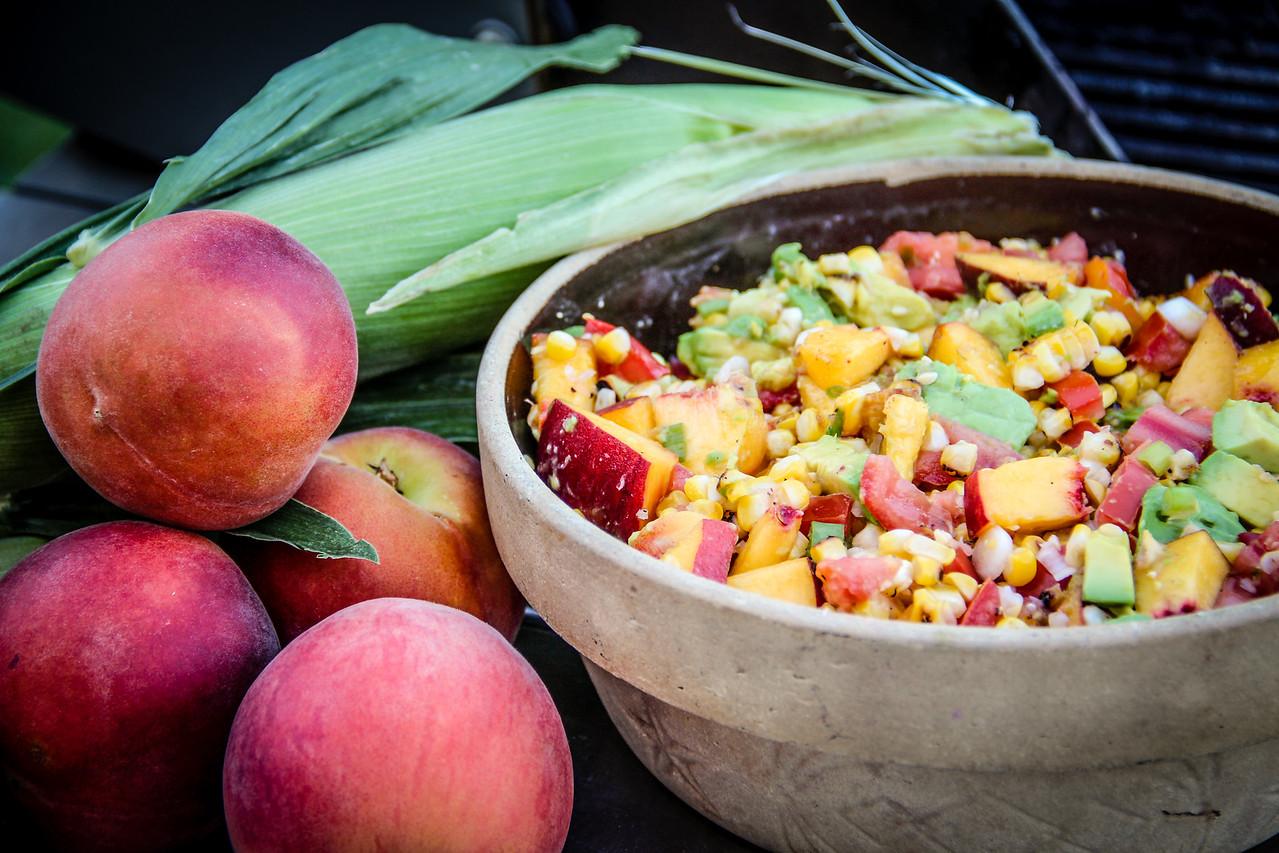 Summeripe Peach & Grilled Corn Salad