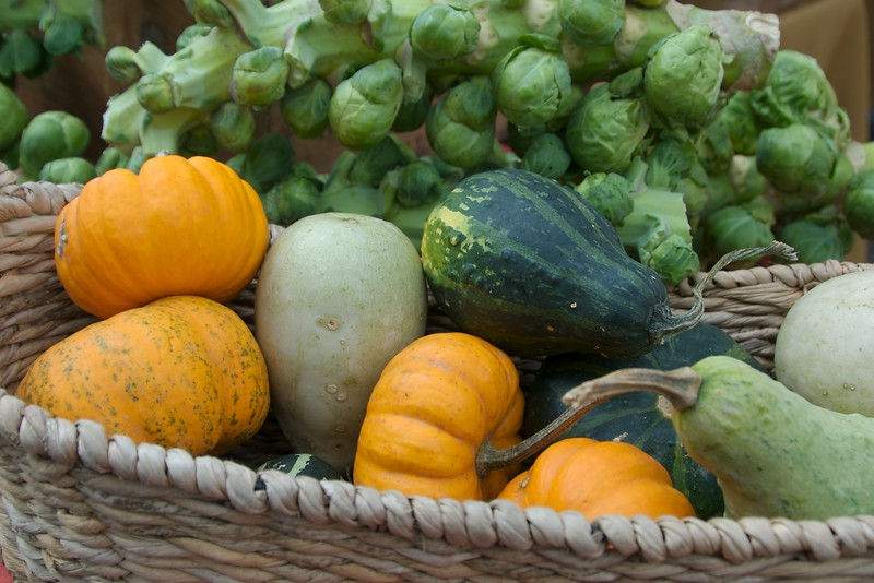 squash and sprouts