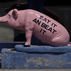 The famous Eat it and Beat It pig at Danny Edwards BBQ joint in KC, Mo.