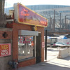 Danny Edwards BBQ will be forced to close this location with the construction of the new Sprint Center seen here just across 13th Street in downtown Kansas City, March 2007. Edwards was able to operate for awhile during the construction, but then closed down and moved to a new location on S.W. Boulevard.