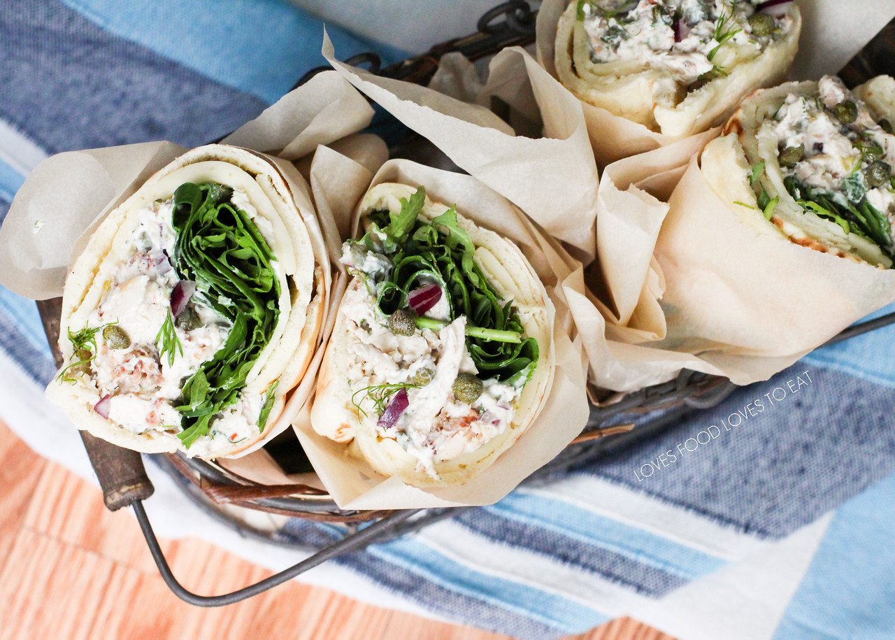 Chicken Salad Pita Sandwiches with Lemon, Dill, & Pancetta // Loves Food, Loves to Eat