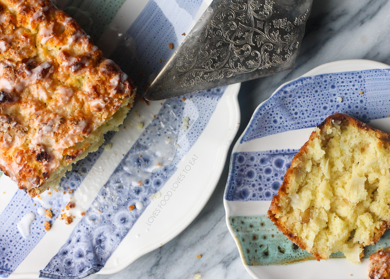 Coconut Lime Scone Loaf with White Chocolate and Mac Nuts // Loves Food, Loves to Eat