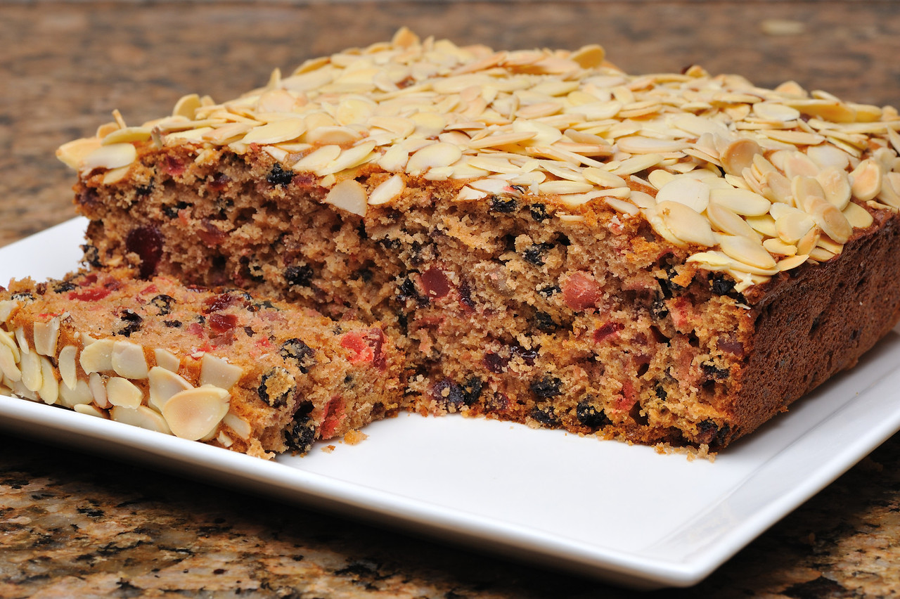 Fruit cake from mum's tried and tested recipe.