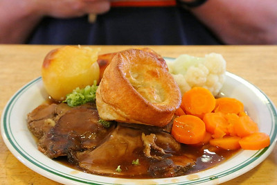 Roast Beef Lunch, served in Buckfastleigh Station Cafe  11/08/13