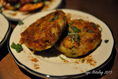 Tara Kitchen - potato patties with mixed vegetables