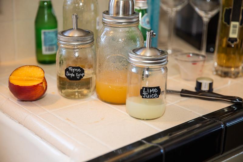 Summeripe Craft Cocktails in the making: Sparkling Summeripe Nectarini
