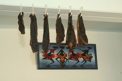 Biltong drying in your room