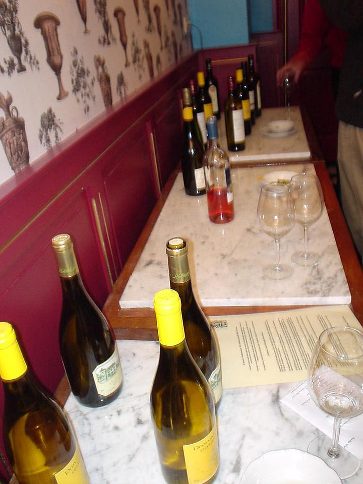 Wines to be tasted in Bistro l'Orange
