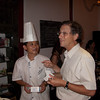Phil and Chef Zhang exchanging cards