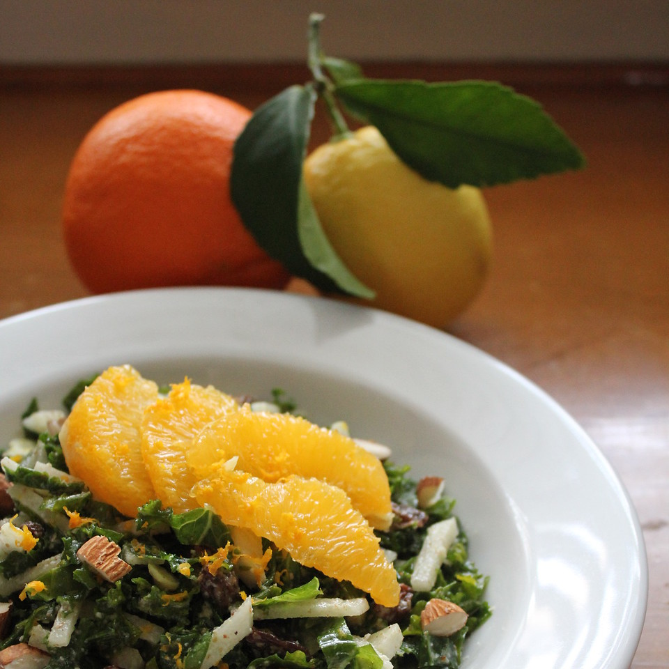 Kale Salad with Orange & Jicama