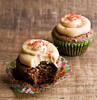 chocolate bacon caramel cupcakes - 14