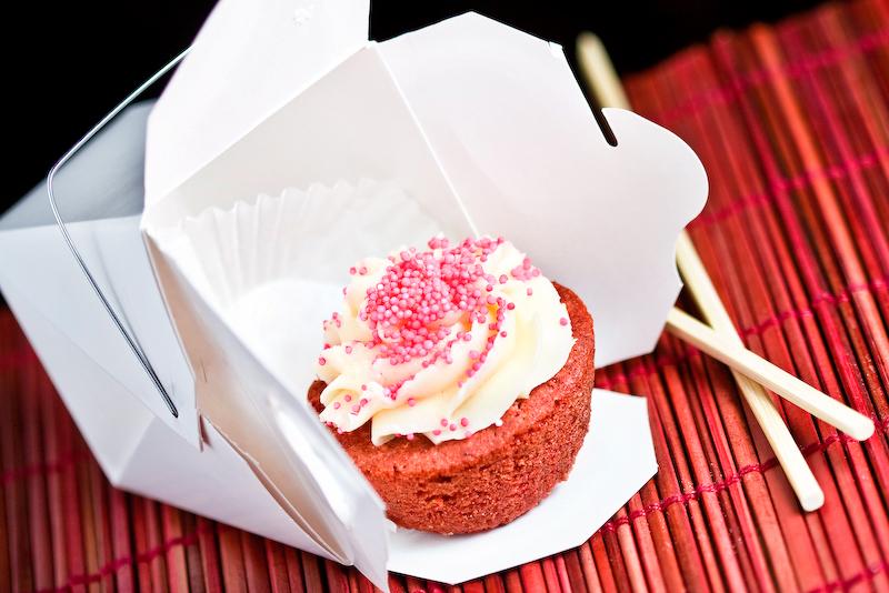 red velvet cupcake from kitchenette - 1