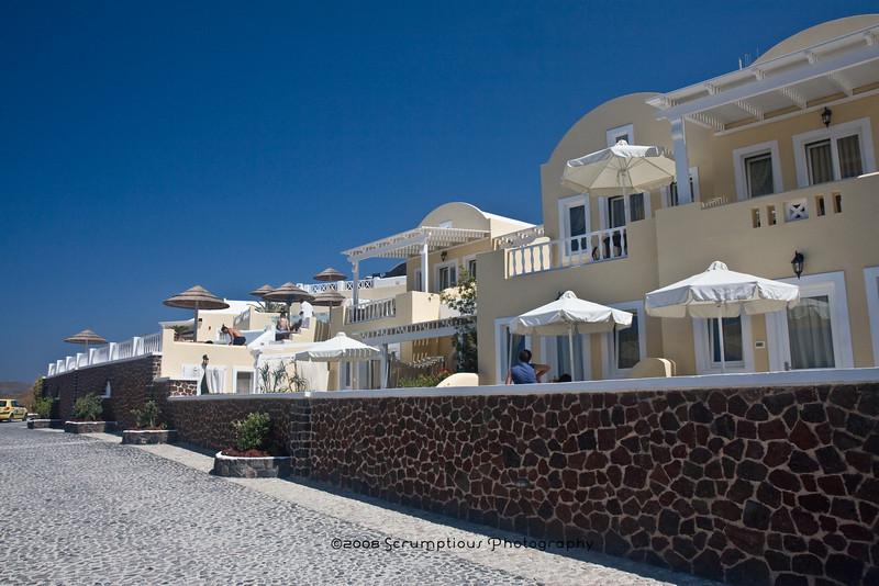 The Santorini Princess, our hotel.
