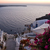 Oia at sunset.