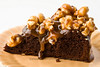 caramel popcorn brownie cake - 11
