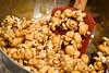 caramel popcorn brownie cake - 8