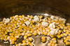caramel popcorn brownie cake - 3