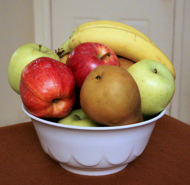 Bowl of Fruit was the subject I shot today. (Glad I used spell check on the word shot! almost gave it another meaning)