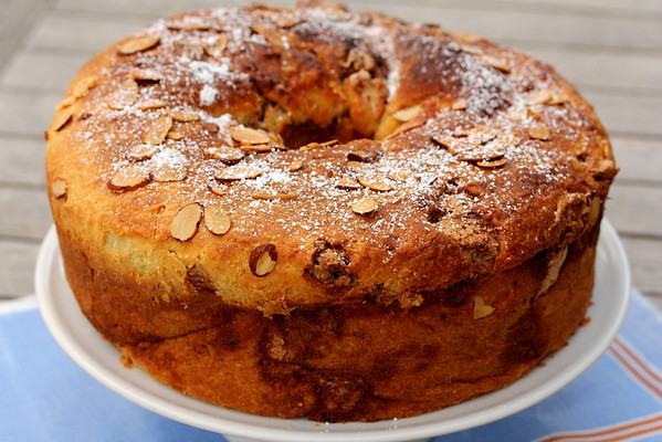 Cinnamon Nut Roll Coffee Cake Brioche