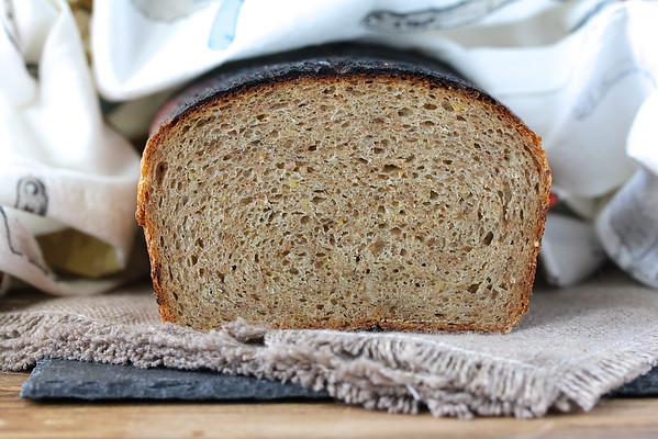 This Rye Porridge Bread is representative of French rye breads; dense, moist, and flavorful.