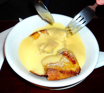 "Bread & Butter Pudding. Served in ""Tally Ho"" in Littlehempston, Totnes 22/10/11"