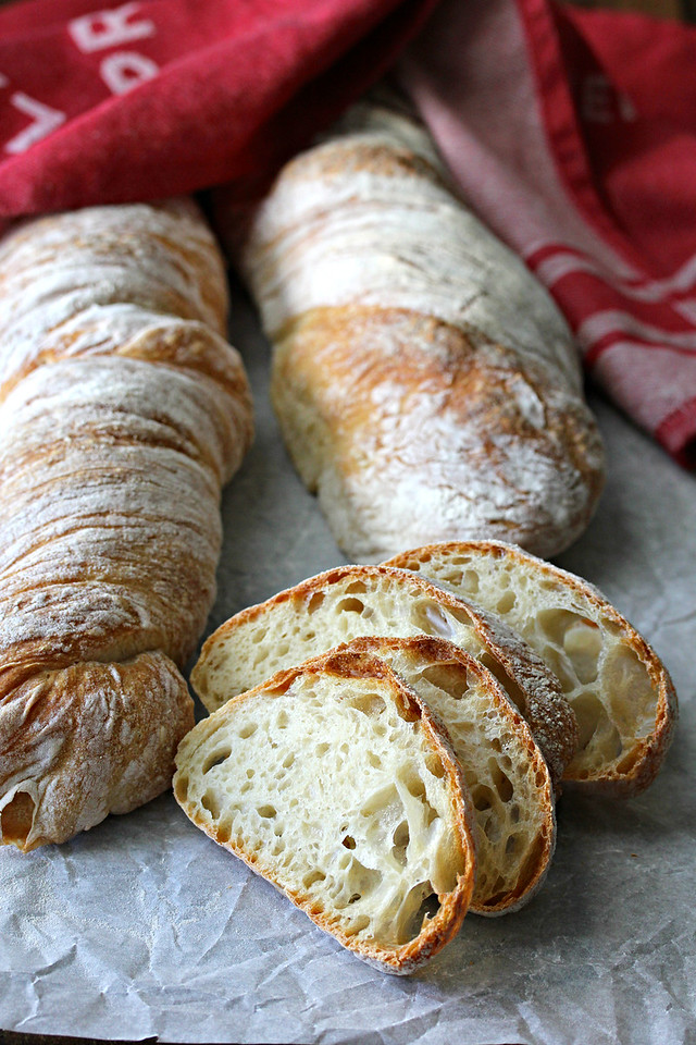 This Ciabatta Bread with Poolish is really easy to make, and makes amazing sandwiches and crostini.