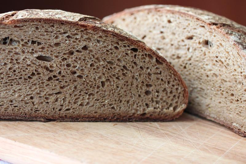 Whole wheat sour dough. Peter Reinhart Artisan Bread Every Day.