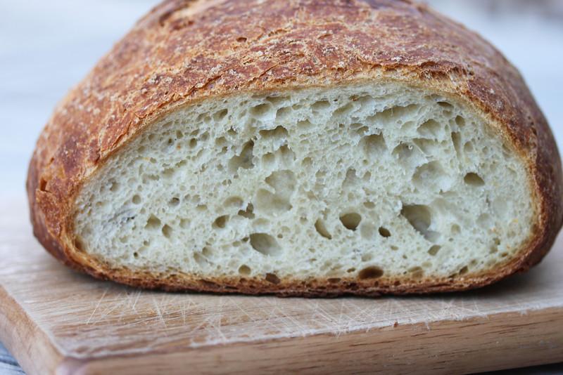 No knead bread interior