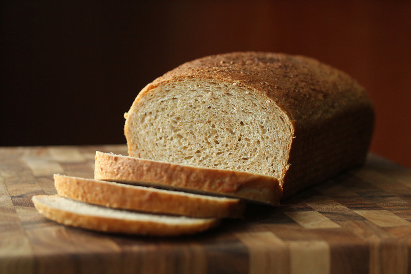 Wheat berry and bran bread