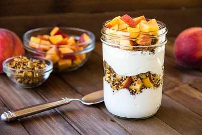 Summeripe Peach Parfait