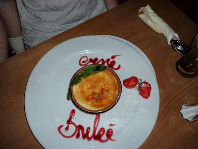 """Crème Brûlée, served in """"The Hare & Hounds"""" in Kingskerswell 24/06/11"""