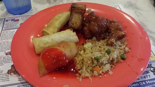 Chinese Buffet Food,