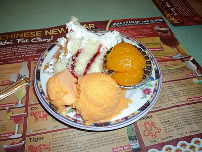 "Buffet Desserts.  Served in ""Mandarin"" in London, Ontario  02/02/14"